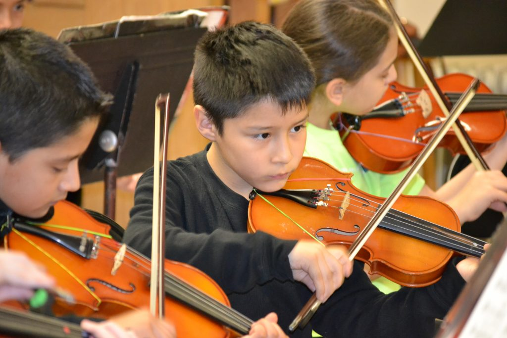 BRAVO STUDENT PLAYING VIOLIN