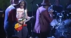 John Lee Hooker, Carlos Santana, and Etta James