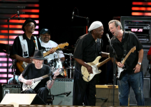 Buddy Guy, Eric Clapton, Johnny Winter, Robert Cray, and Hubert Sumlin